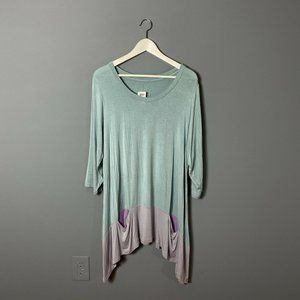 Logo by Lori Goldstein Plus Size Pastel Tunic Top